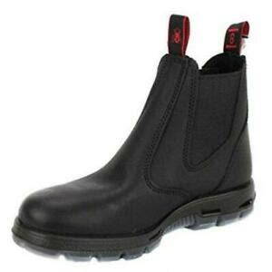 Men's Bobcat UBBK BLACK Elastic Sided Soft Toe Leather Leather Work Boot